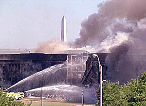 Battling the Pentagon blaze